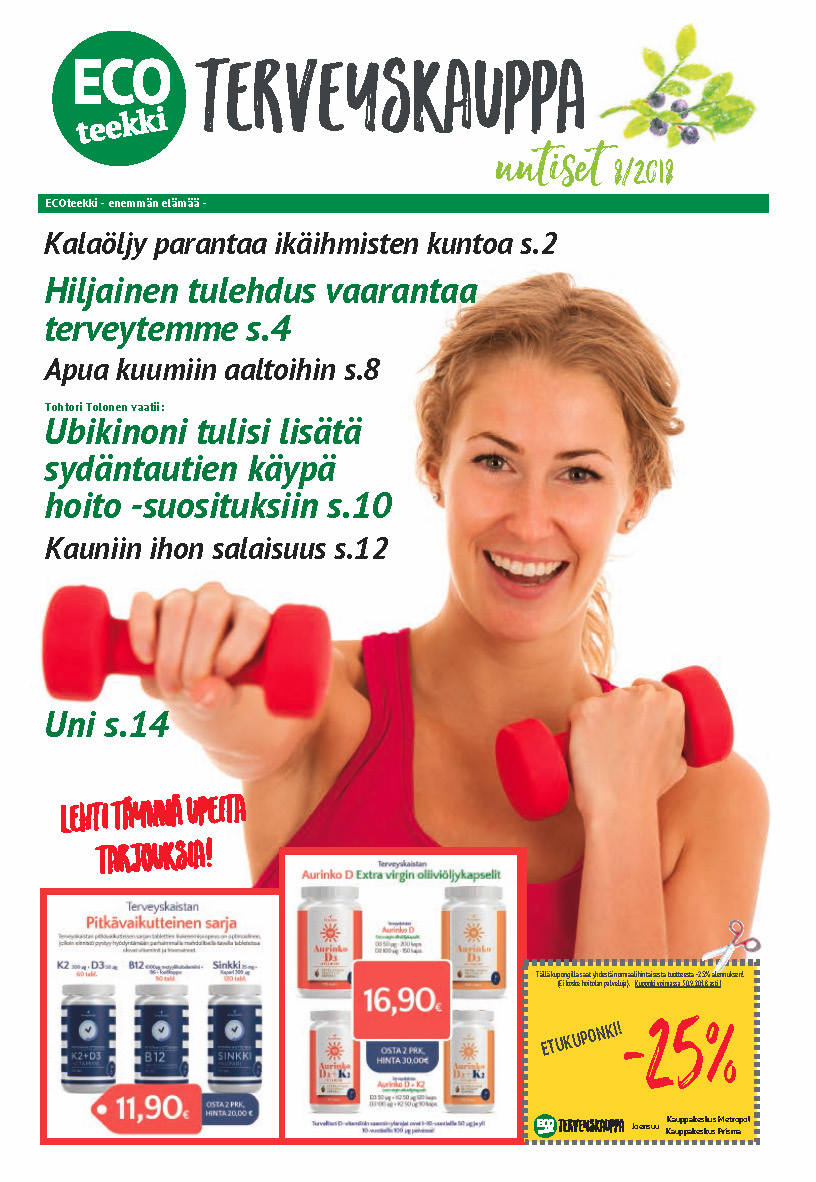 ECOteekki terveyskauppa uutiset 8/2018