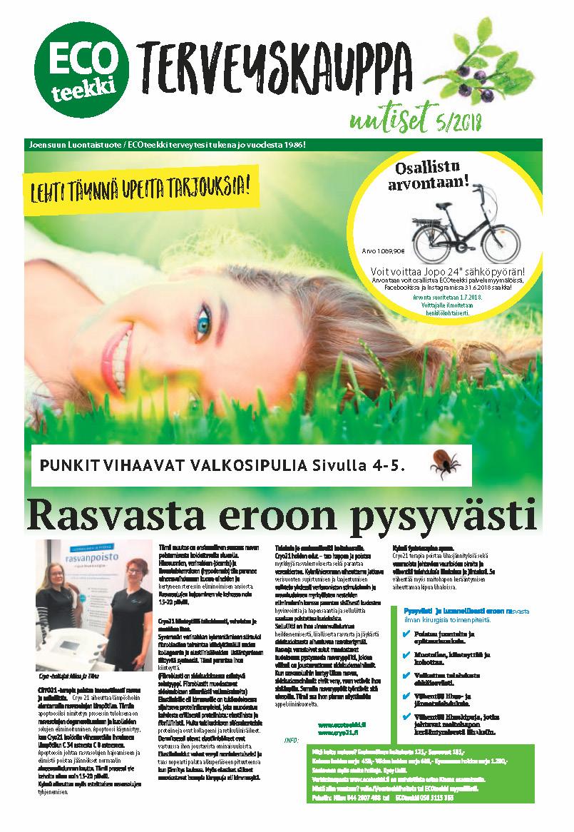 ECOteekki terveyskauppa uutiset 5/2018