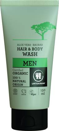 Urtekram Men hair&body wash 150ml - Saippuat ja suihkugeelit - 5765228836613 - 2