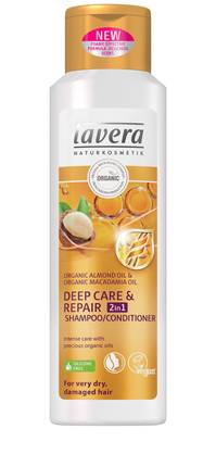 Lavera Deep Care & Repair 2in1 Shampoo/Conditioner, 250 ml - Shampoot - 4021457619894 - 1
