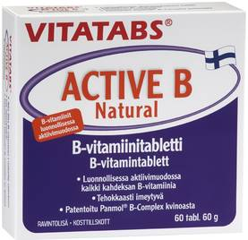 Vitatabs Active B Natural 60tbl. - B-vitamiinit - 6428300006456 - 1