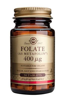 Folate ( Metafolin®) 400uq 50tbl. - B-vitamiinit - 033984019409 - 1